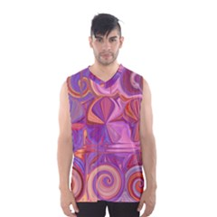Candy Abstract Pink, Purple, Orange Men s Basketball Tank Top