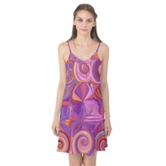 Candy Abstract Pink, Purple, Orange Camis Nightgown