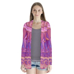 Candy Abstract Pink, Purple, Orange Cardigans