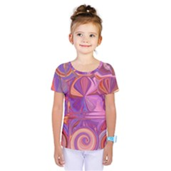 Candy Abstract Pink, Purple, Orange Kids  One Piece Tee
