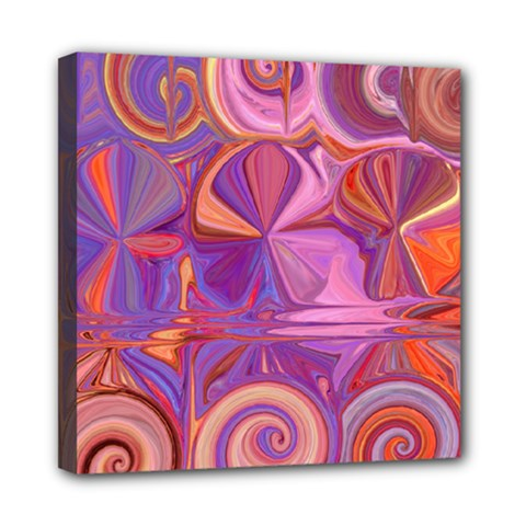 Candy Abstract Pink, Purple, Orange Mini Canvas 8  X 8