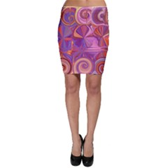 Candy Abstract Pink, Purple, Orange Bodycon Skirt