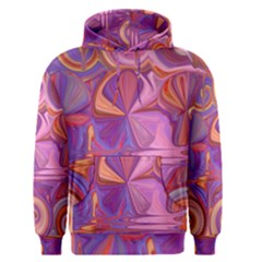 Candy Abstract Pink, Purple, Orange Men s Pullover Hoodie