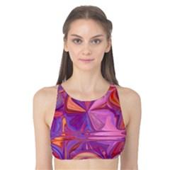 Candy Abstract Pink, Purple, Orange Tank Bikini Top