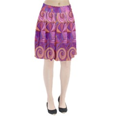 Candy Abstract Pink, Purple, Orange Pleated Skirt