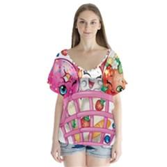 Shopkin4 Flutter Sleeve Top