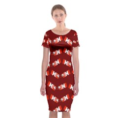 Christmas Crackers  Classic Short Sleeve Midi Dress