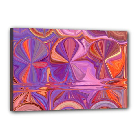 Candy Abstract Pink, Purple, Orange Canvas 18  x 12