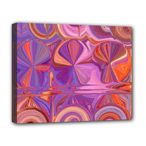 Candy Abstract Pink, Purple, Orange Deluxe Canvas 20  x 16