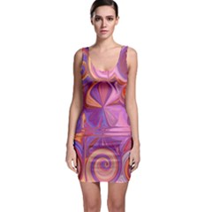 Candy Abstract Pink, Purple, Orange Sleeveless Bodycon Dress