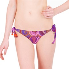 Candy Abstract Pink, Purple, Orange Bikini Bottom