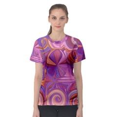 Candy Abstract Pink, Purple, Orange Women s Sport Mesh Tee