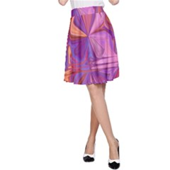 Candy Abstract Pink, Purple, Orange A Line Skirt