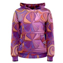 Candy Abstract Pink, Purple, Orange Women s Pullover Hoodie