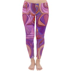 Candy Abstract Pink, Purple, Orange Classic Winter Leggings