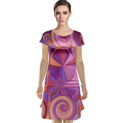 Candy Abstract Pink, Purple, Orange Cap Sleeve Nightdress