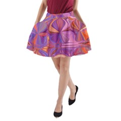 Candy Abstract Pink, Purple, Orange A Line Pocket Skirt