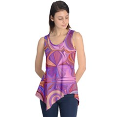 Candy Abstract Pink, Purple, Orange Sleeveless Tunic