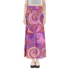Candy Abstract Pink, Purple, Orange Maxi Skirts
