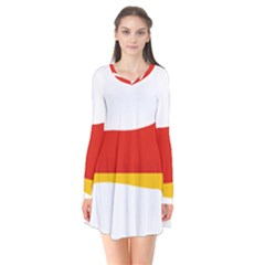 Dachshund Germany Flag Silhouette Flare Dress