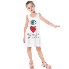 I Love You Kids  Sleeveless Dress