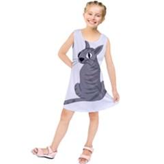 Gray cat Kids  Tunic Dress
