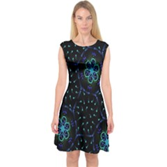 Computer Graphics Webmaster Novelty  Capsleeve Midi Dress