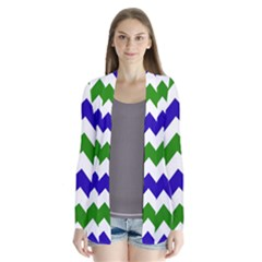 Blue And Green Chevron Cardigans