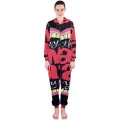 Cant Eat Hooded Jumpsuit (ladies)