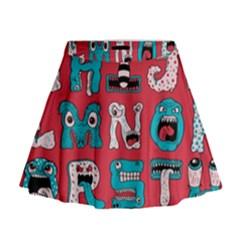 Alpha Monsters Mini Flare Skirt