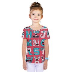 Alpha Monsters Kids  One Piece Tee