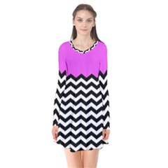 Colorblock Chevron Pattern Jpeg Flare Dress