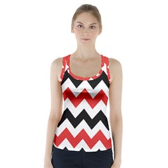 Colored Chevron Printable Racer Back Sports Top
