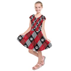 Cute Scull Kids  Short Sleeve Dress