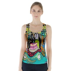 Cosmic Candy Monster Racer Back Sports Top