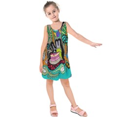 Cosmic Candy Monster Kids  Sleeveless Dress