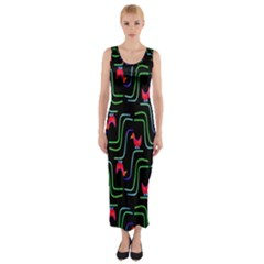 Computer Graphics Webmaster Novelty Pattern Fitted Maxi Dress