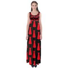 Dresses Seamless Pattern Empire Waist Maxi Dress