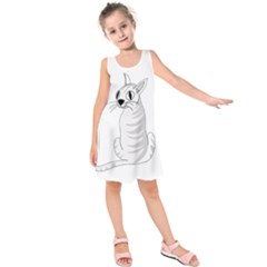 White Cat  Kids  Sleeveless Dress
