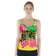 Idont Kale Think Racer Back Sports Top