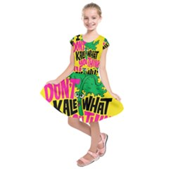Idont Kale Think Kids  Short Sleeve Dress