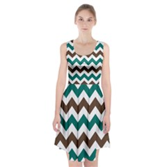 Green Chevron Racerback Midi Dress