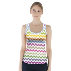 Color Full Chevron Racer Back Sports Top