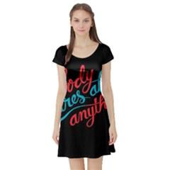 Madmen Nobody Cares Short Sleeve Skater Dress