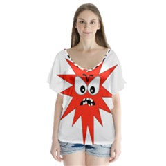 Monster Angry Flutter Sleeve Top