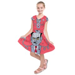 Monster Rubiobot Kids  Short Sleeve Dress