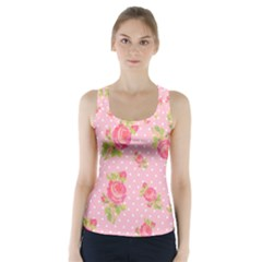 Rose Pink Racer Back Sports Top