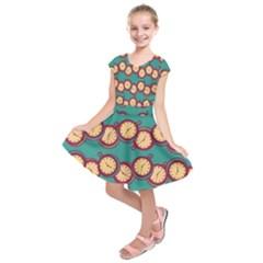 Timing Smart Time Kids  Short Sleeve Dress