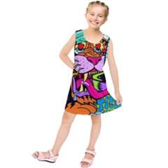 Tiger Lion Kids  Tunic Dress