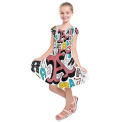 Teks As Kids  Short Sleeve Dress